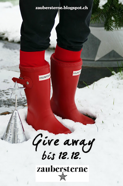 Kindergummistiefel Hunter, Give away, Verlosung