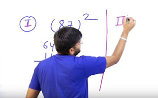 Maths Square Tricks Tips for Competitive Exams - Find 1 to 1000 square in Seconds