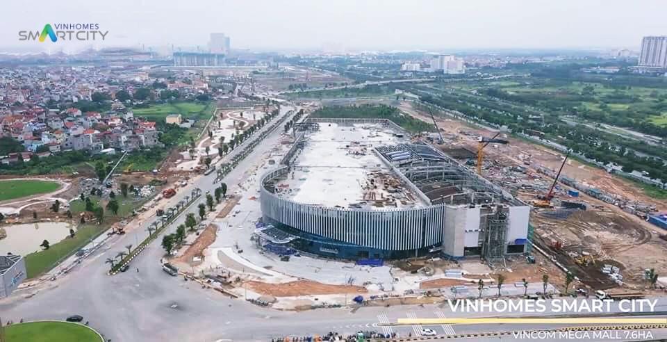 Tiến độ Vincom Mega Mall của Vinhomes Tây Mỗ