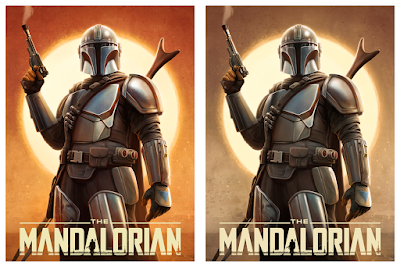 "The Mandalorian ""High Noon"" Star Wars Fine Art Giclee Print by Pablo Olivera x Bottleneck Gallery"
