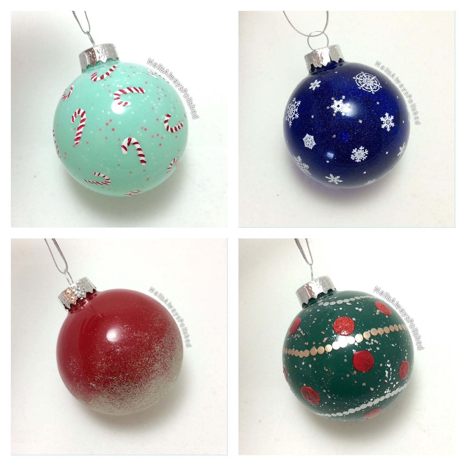 Nails Always Polished: Christmas Ornaments