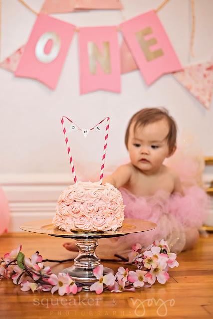 Smash Cake - Pink and Gold