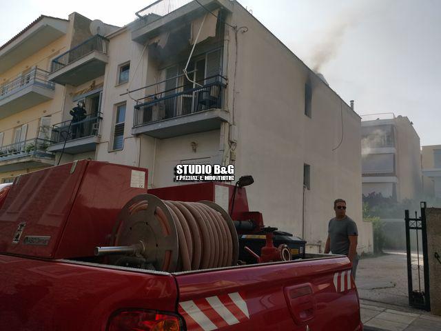 Φωτιά σε διαμέρισμα στο Άργος - Κινδύνεψε ηλικιωμένη
