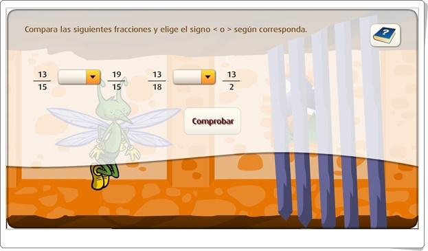 """""""Comparar fracciones"""" (Juego de Matemáticas de Primaria)"""