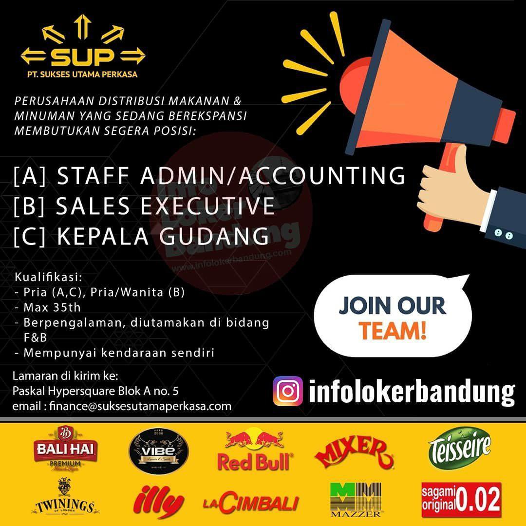 Lowongan Kerja PT. Sukses Utama Perkasa Bandung Agustus 2019