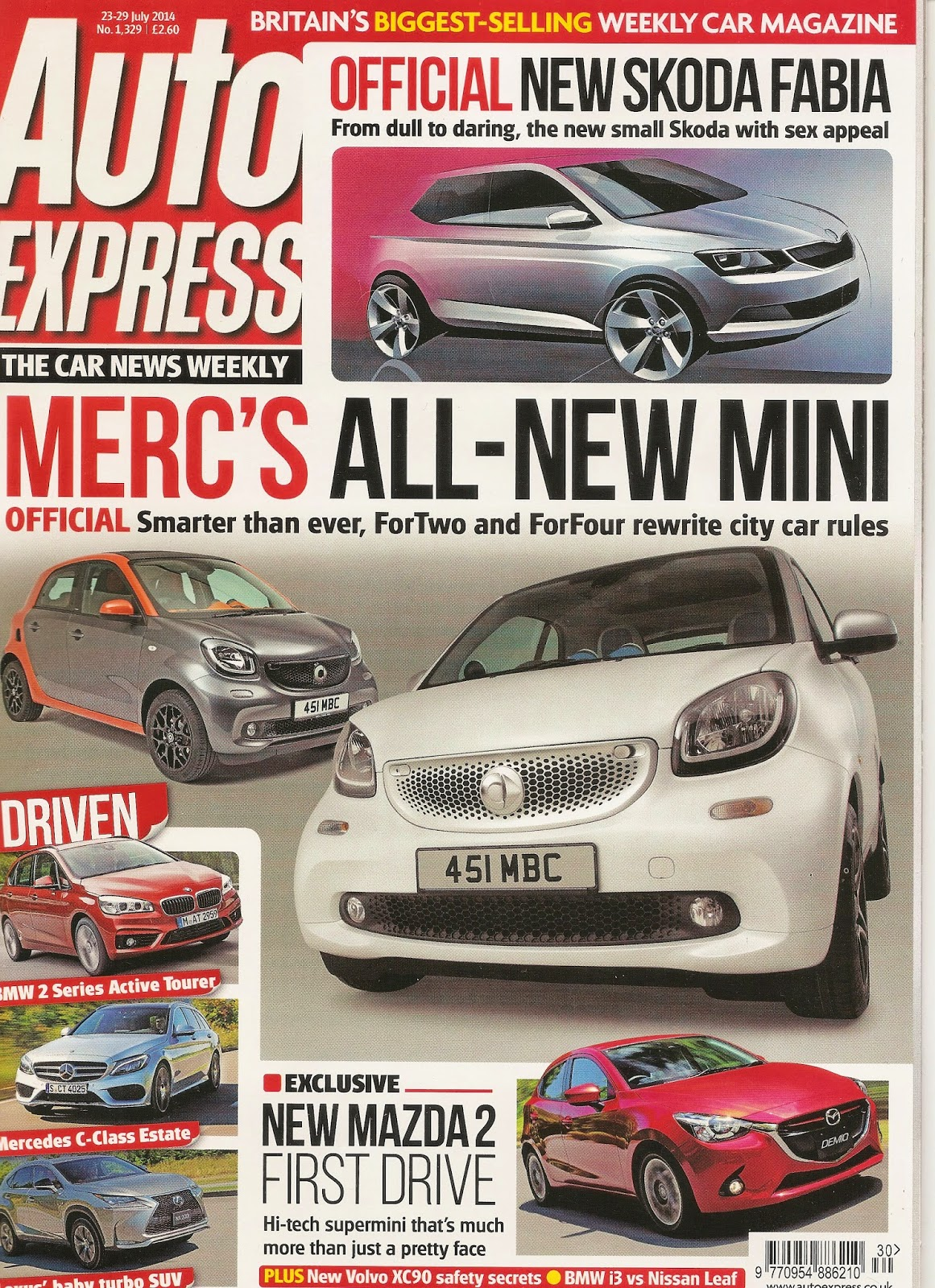 Roj Fashion Lifestyle Auto Express Mercs All New Mini The
