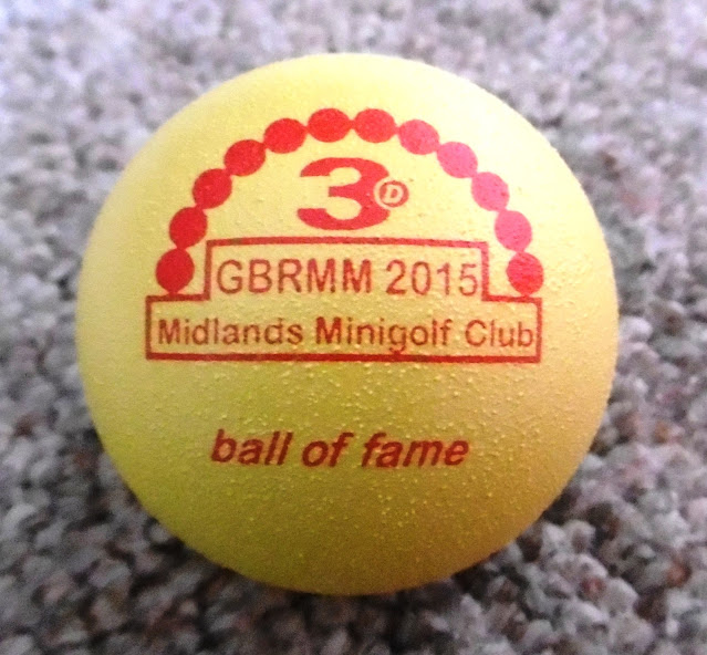 Midlands Minigolf Club Ball of Fame