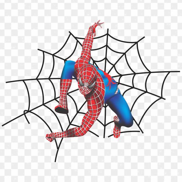 Descargar Spiderman ilustración PNG transparente