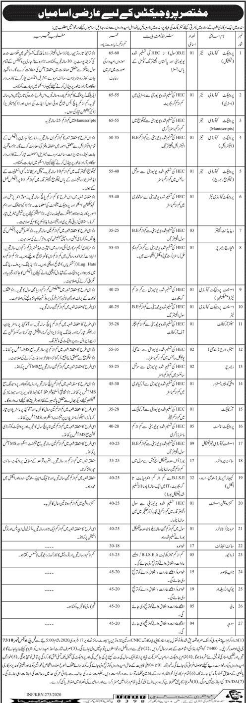 Govt Department Govt Of Sindh Feb 2020