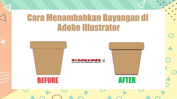 cara menambahkan bayangan atau shadow di adobe illustrator
