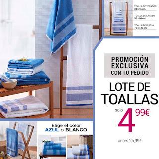 Lote 3 toallas solo 4,99€