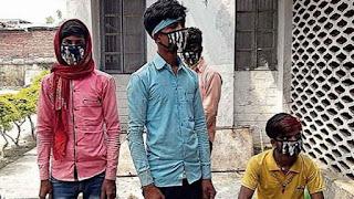 गोरखपुर से  पैदल चलकर अपने घर चनपटिया पहुंचे मजदूर