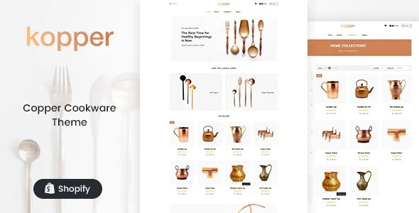 Best Copper Utensils & Appliances Shopify Theme