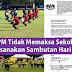 Kementerian Pendidikan Malaysia hanya MEMOHON tetapi tidak memaksa sekolah melaksanakan Sambutan Hari Sukan