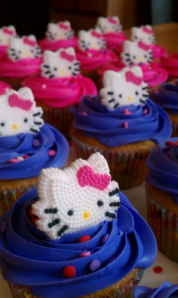 Hello Kitty Cake And Cupcakes For A 5 Year Old