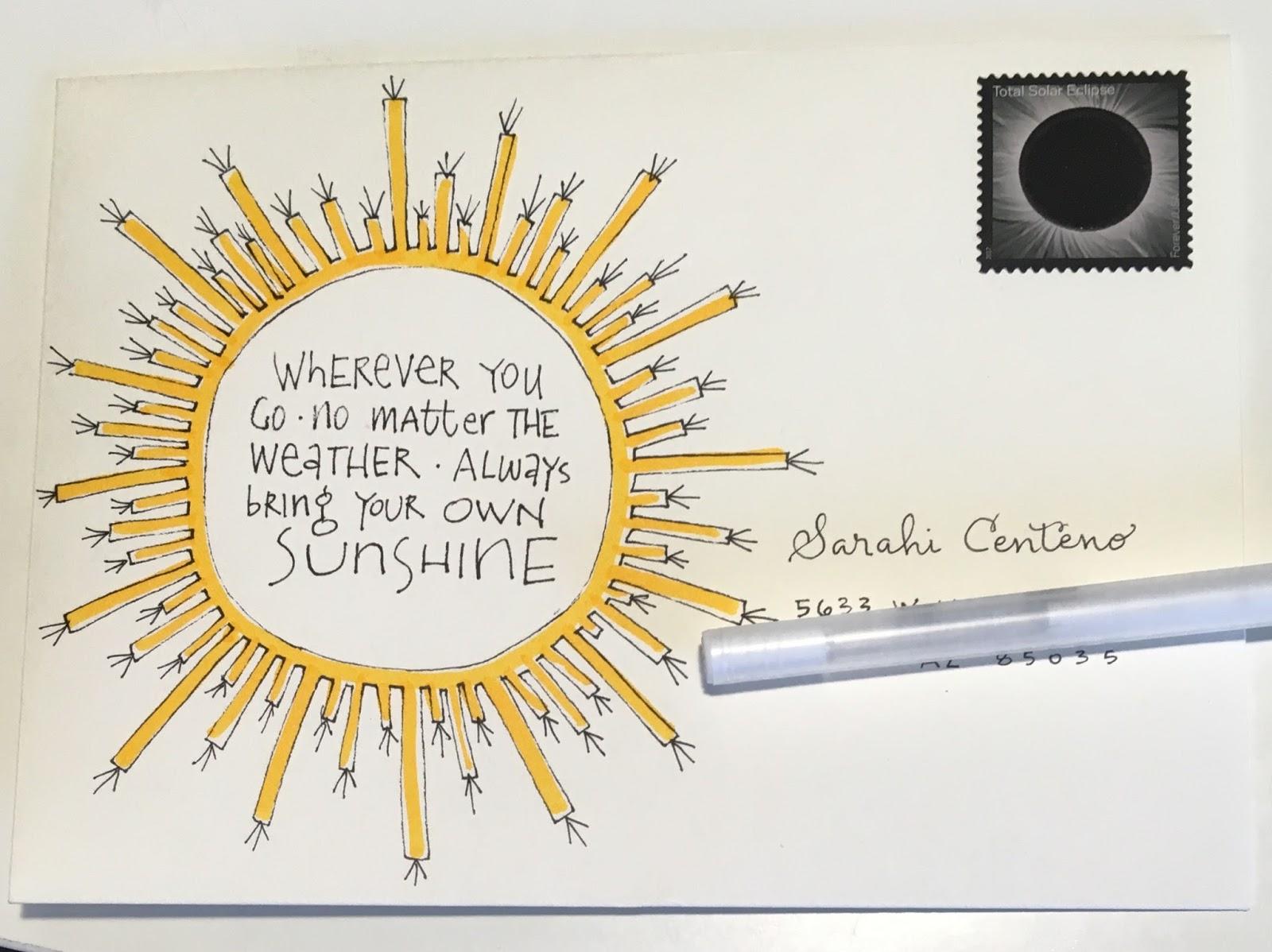 Sunshine Quotes pushing the envelopes: Sunshine Quote for Sarahi * Sunshine Quotes