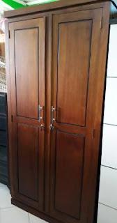 lemari 2 pintu jati
