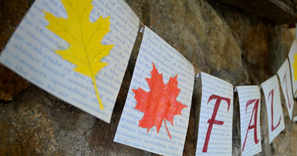Fall Book Page Leaf Banner |Exquisitely Unremarkable