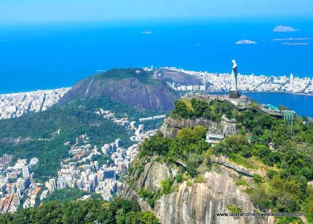 Christ the Redeemer view from helicopter