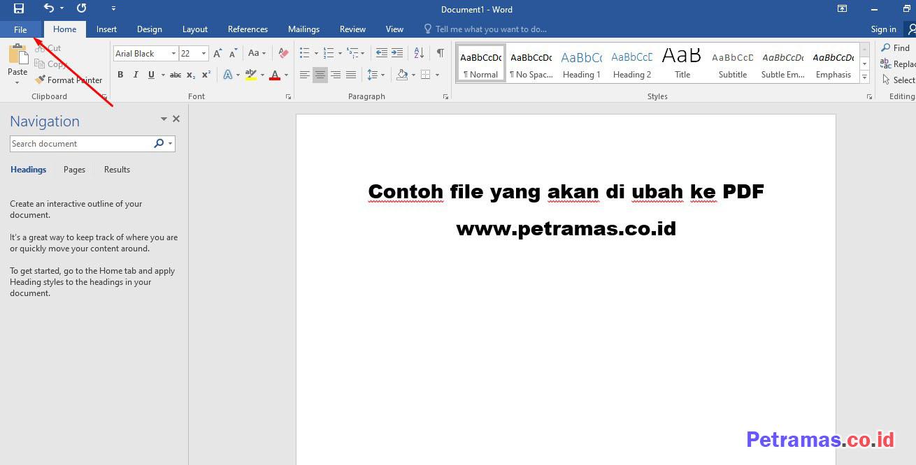 Cara Membuat File Word Menjadi Pdf