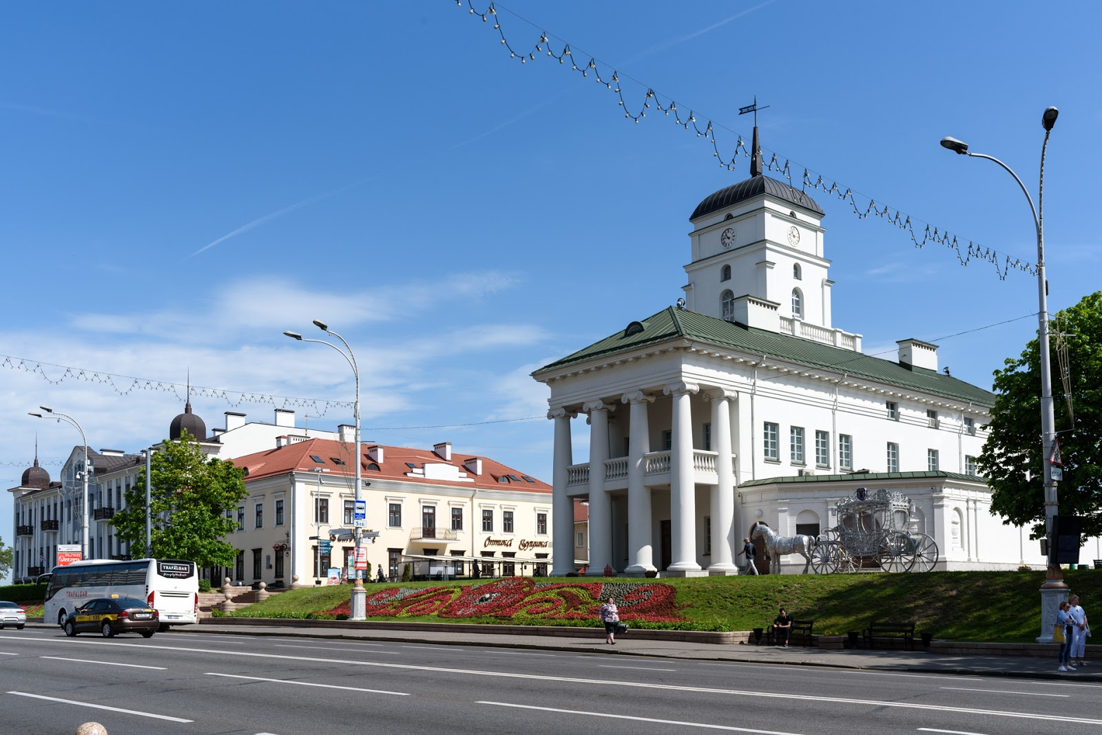 Ратуша в Минске. Центр города.