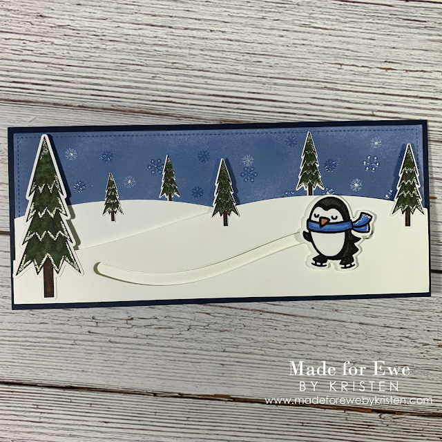 Christmas Penguin Slider Card