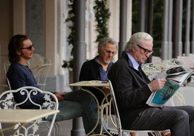 Paul Dano (left) in Paolo Sorrentino's Youth, with Michael Caine and Harvey Kietel