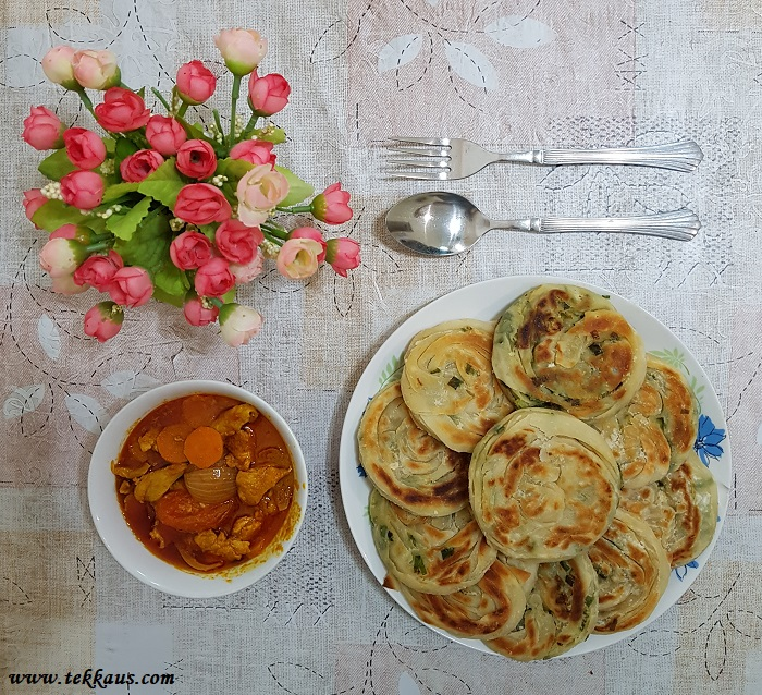 Scallion Pancakes Recipe With Chicken Curry easy to make