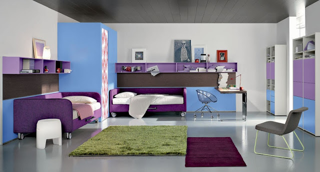 decoration chambre ado fille. Black Bedroom Furniture Sets. Home Design Ideas