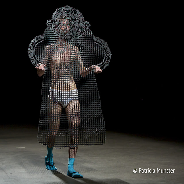 Plexiglass garment at Amsterdam Fashion Week