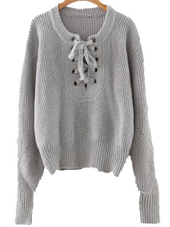 http://fr.shein.com/Grey-Eyelet-Lace-Up-Ribbed-Trim-Sweater-p-315916-cat-1734.html