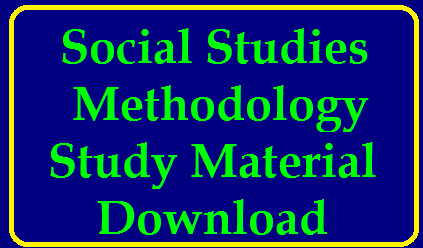 Social Methodology Study Material Download /2019/12/social-studies-methodology-study-material-download.html