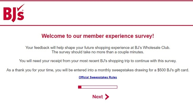 bj's restaurant customer survey