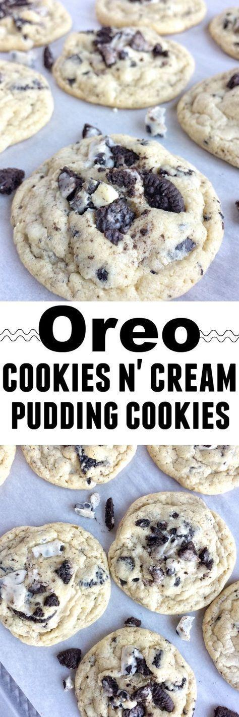 Oreo Cookies & Cream Pudding Cookies