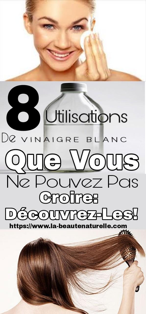 8 utilisations de vinaigre blanc que vous ne pouvez pas croire: Découvrez-les!