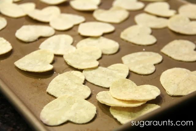 DIY Heart Shaped Tortilla Chips