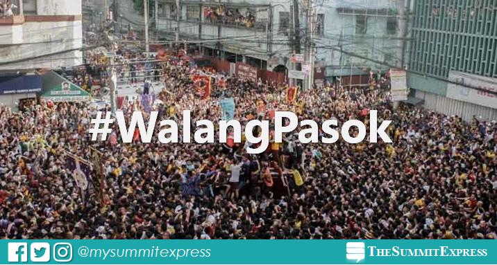 #WalangPasok: Manila suspends classes, gov't work on January 9 for Traslacion 2020