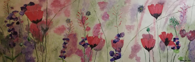 """Acrylic Painting """"Papawers in die veld"""""""