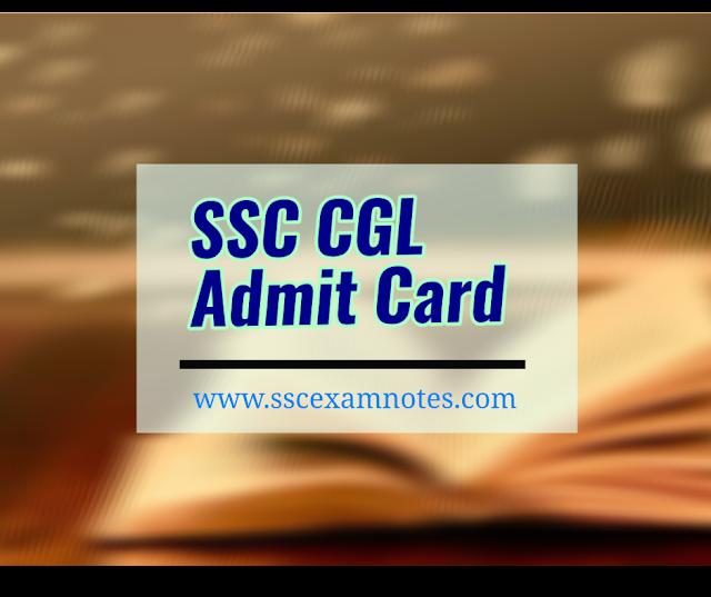 download SSC  CGL  admit card