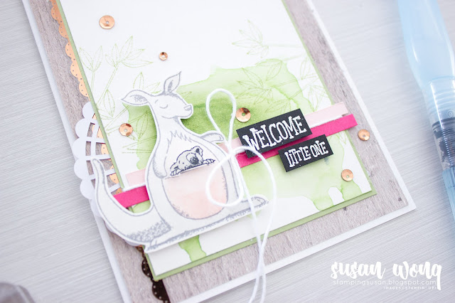 Baby Card with Animal Outing By Stampin' Up! - Susan Wong for Just Add Ink