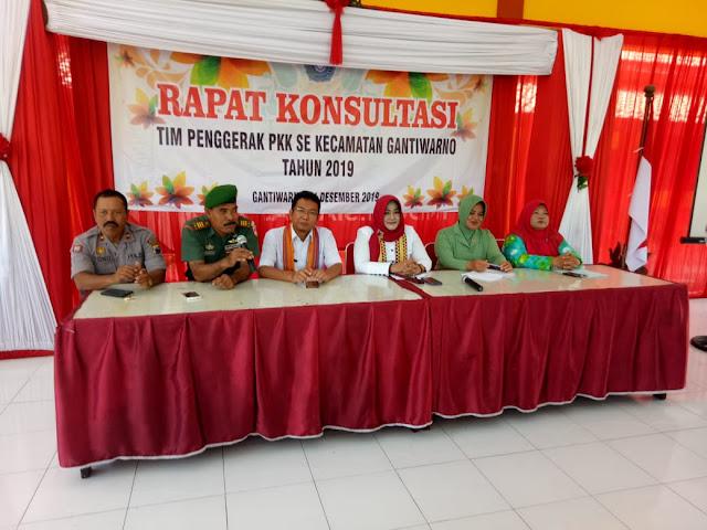 Danramil 10/Gantiwarno Hadiri Rapat Konsultasi Tim Penggerak PKK