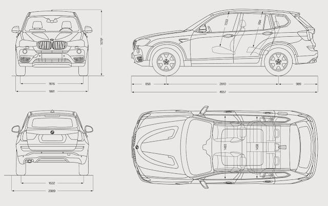 Dimensioni BMW X3 2015/2016 - Altezza, lunghezza, bagagliaio e altre misure