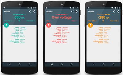 تطبيق Ampere, تطبيق Ampere للحفاظ على بطارية الهاتف, حفاظ على بطارية الهاتف, مدفوع, أندرويد