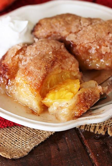 Crescent Roll Peach Dumplings Dessert Image