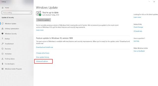 cara aktifkan windows update di windows 10
