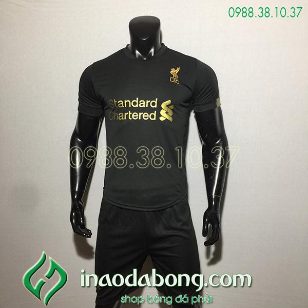Áo bóng đá câu lạc bộ Liverpool màu đen 2020