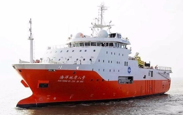 Tàu khảo sát Hải Dương 8 Trung Quốc lại xuất hiện trong vùng đặc quyền kinh tế