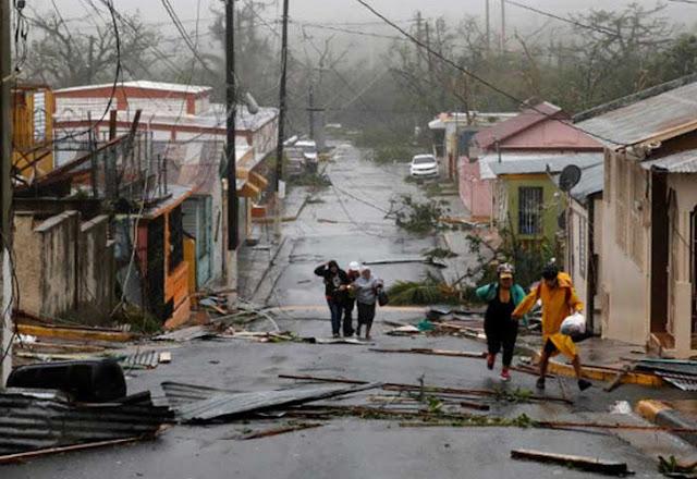 Puerto Rico desvastado por Maria, sin luz ni agua, reporta primera muerte a causa del poderoso huracán María