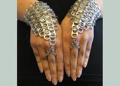 Aprenda : Como fazer bijuterias com lacre de lata de refrigerante - Moda Fashion Sustentável