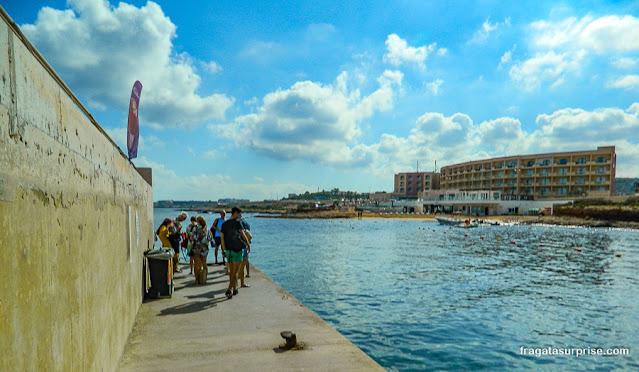 Lancha para a Lagoa Azul de Malta